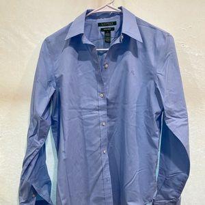 Ralph Lauren 100% cotton women's dress shirt.